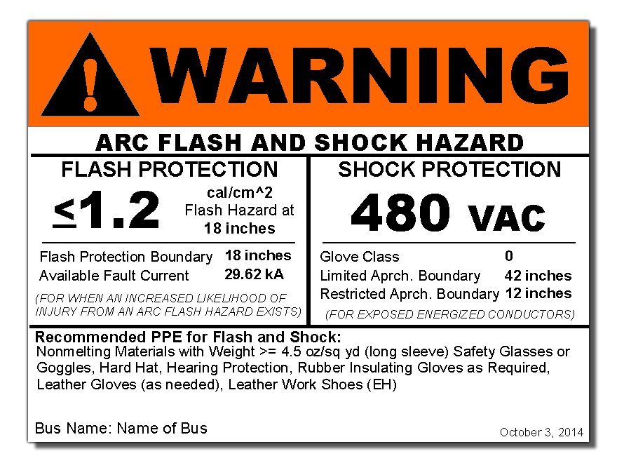 It's just a graphic of Dynamic Arc Flash Hazard Label