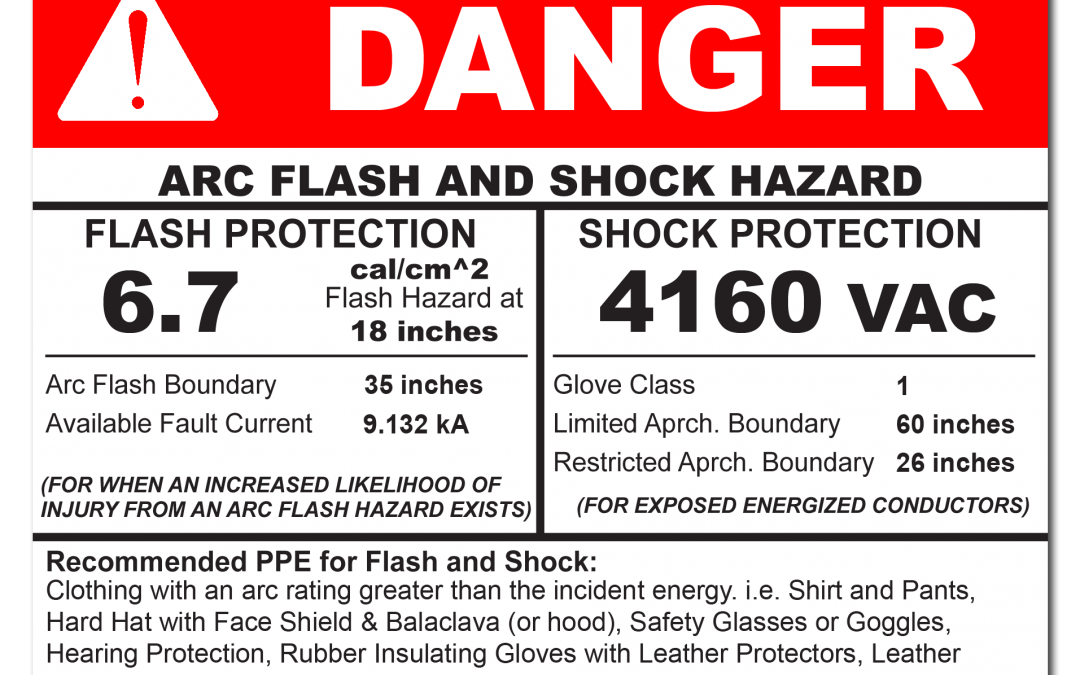 What should an electrical hazard label look like?